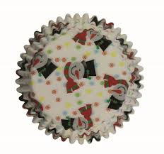 PME 60 SMILEY SNOWMAN STANDARD Cupcake Baking Case