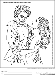 Twilight Coloring Pages Edward And Bella Within