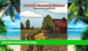 Buy NOW Mindful Coloring Books Serene Country Scenes Adult Book Landscapes Cottages