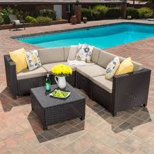 Outdoor Sectional Sofa Canada by Puerta Outdoor 5 Piece Wicker V Shaped Sectional Sofa Set By