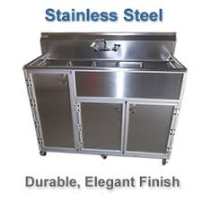 Mobile Self Contained Portable Electric Sink by Mobile Hand Wash Station Mobile Sink Monsam Enterprises Inc