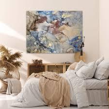 wandmotiv24 leinwandbild steine felsen querformat bunter marmor mit gold 2 m0251