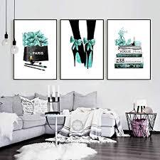 aquarell vogue high heels blume salon wandkunst leinwand malerei nordic poster und drucke wandbilder für wohnzimmer dekor kein rahmen 40 60 cm 3