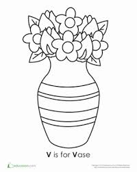 Preschool Reading Writing Worksheets Letter V Coloring Page