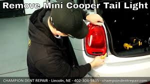 how to remove light on mini cooper newer model