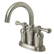 Brushed Nickel Bathroom Faucets Home Depot by Pegasus Verdanza 4 In Centerset 2 Handle Bathroom Faucet In