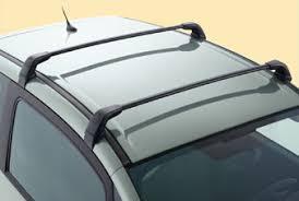 jeu de 2 barres de toit transversales acier pour vehicules