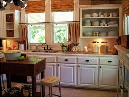 Modern Kitchen Sink Window Curtains Ideas With White Cabinet And Ceiling Light Decorations
