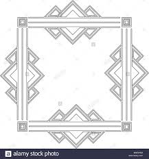 100 Art Deco Shape Vintage Geometric Shape Art Deco Retro Frame Stock Vector