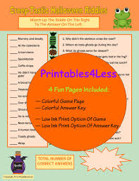 Scary Halloween Scavenger Hunt Riddles by Halloween Party Game Printable Halloween Game Spooky
