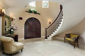Round Foyer With Antique Furniture