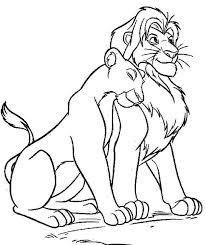 Coloring Page The Lion King Animation Movies 210