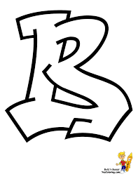 Graffiti Alphabet B At YesColoring