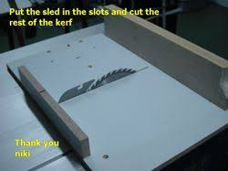 tablesaw crosscut sled woodworking plans and information at