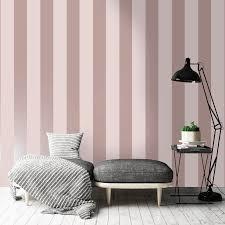 rosa und graue tapete gestreift gestreifte tapete