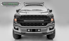 100 Grills For Trucks 20182019 F150 Torch AL Grille Black Mesh And Trim 1 Pc Replacement Chrome Studs Incl 1 30 LED PN 6315781