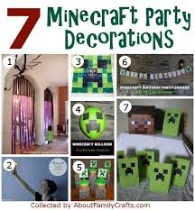 7 Minecraft Party Decorations