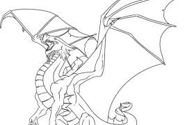 Realistic Fire Breathing Dragon Coloring Pages