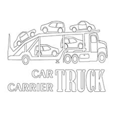 Car Carrier Truck Cement Construction Coloring Pages