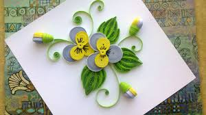 Quilling Paper Flower Tutorial DIY Pansy Tuto