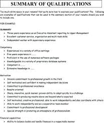 Perfect Resume Summary Updated Career Examples