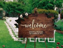 Rustic Wood Wedding Welcome Sign