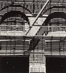 Untitled Fire escape over Park Avenue garage by Ralph Steiner on