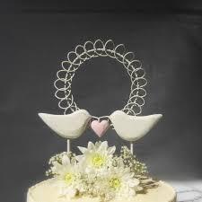 Love Birds Wedding Cake Topper Bird Rustic