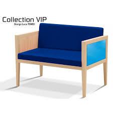 canap bois et tissu canapé 2 places pour salle d attente ou salon structure