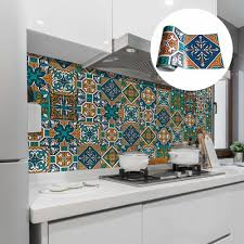 vintage badezimmer tapete mosaik fliese zimmer türkis
