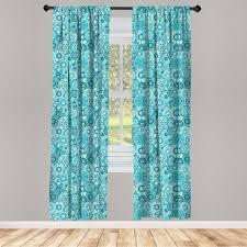 gardine fensterbehandlungen 2 panel set für wohnzimmer schlafzimmer dekor abakuhaus wasser mandala runde kaufen otto