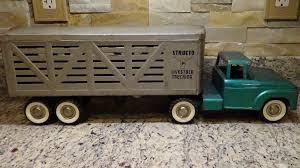 100 Trucking Usa Rare Structo 1960s Ford Livestock Semi Truck Large Pressed
