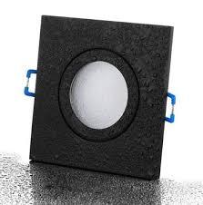 8xfeuchtraumstrahler schwarz matt eckig ip44 badezimmer mit gu10 fassung l 230v