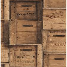 Distressed Wood Brown Crates