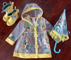 disney store nwt frozen anna elsa girls 3t rain coat jacket boots