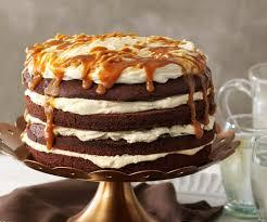 brownie sahne torte mit gesalzener karamellsauce