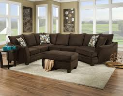 Sectional Sofa that Seats 5 with Right Side Cuddler 3810 by