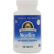 Source Naturals NightRest With Melatonin 100 Tablets iHerb