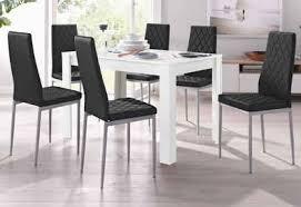 my home essgruppe set 5 tlg mit tisch in weiß breite 120 cm
