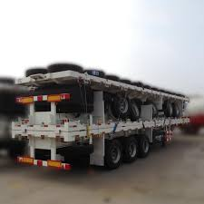 100 Truck And Trailer Supply 40 Ft Tri Axle Flatbed Container Semi Aluminum
