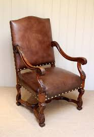 French Carved Wooden Leather Chair C.1900 - LA68747 ... Victorian Arts And Crafts Solid Oak Antique Glastonbury Chair Original Primitive Press Back Rocking 1890 How To Appraise Chairs Our Pastimes Bargain Johns Antiques And Mission Identifying Ski Country Home Replace A Leather Seat In An Everyday Wooden High Chair From 1900s Converts Into Rocking Lborough Leicestershire Gumtree Sold Style Refinished Maple American Style Childs Antiquer Rocker Reupholstery Vintage