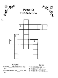 The Creation Crossword Bible Coloring Pages