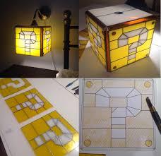 Mario Bros Question Block Lamp by Super Mario Stained Glass Question Block Lamp Stained Glass