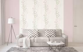 blumen tapete profhome 372661 gu vliestapete leicht strukturiert mit floralen ornamenten matt grün rosa grau 5 33 m2