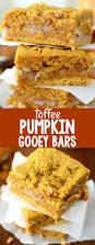 Easy Pumpkin Desserts by Toffee Pumpkin Gooey Bars Crazy For Crust