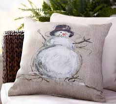 Pottery Barn Decorative Pillow Inserts by Painted Snowman Indoor Outdoor Pillow Pottery Barn