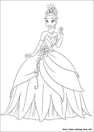 The Princess And Frog Coloring Picture