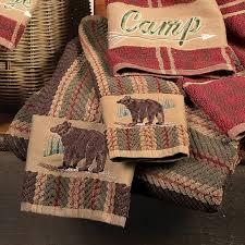 Bear Stripe Towel Set
