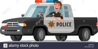 Happy Sheriff Rides In Car. Police Pickup Truck. Cartoon Vector ... Old American Blue Pickup Truck Vector Illustration Of Two Cartoon Vintage Pickup Truck Outline Drawings One Red And Blue Icon Cartoon Stock Juliarstudio 146053963 Cattle Car Farming Delivery Riding Car Royalty Free Image Cute Driving With A Christmas Tree Art Isolated On Trucks Download Clip On 3 3d Model 15 Obj Oth Max Fbx 3ds Free3d White Background