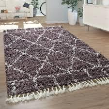 teppich lila hochflor wohnzimmer violet weich orient muster